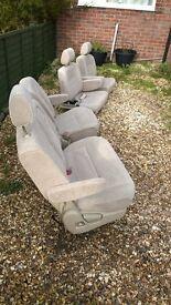 Toyota Alphard Rear seat set x4 with assortment of rails