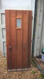 Reclaimed oak front door with frame