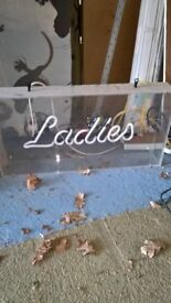 'Ladies' Light up sign & 'Gents' £5 each