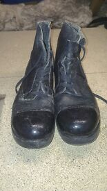 Lees and co ltd drill / ammo boots. 1956 size 10 M