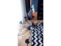 metal chandelier for 15 bulbs, desing italiano