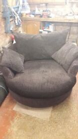 Brown Cuddle Sofa / Chair