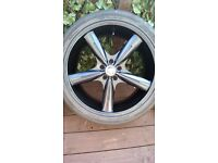 BMW - 22inch - set of 4 alloy wheels and tyres