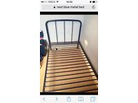 Boys blue metal single bed from NEXT