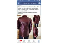 Gents leather coat xxl