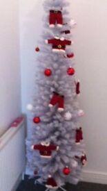 6ft Slim White Christmas Tree
