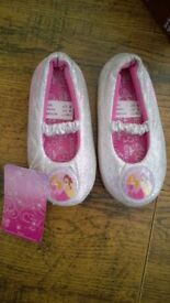 Disney Princess sparkly silver shoes/slippers toddler size 8