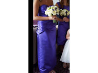 Cadburys Purple Bridesmaid Dress size 8-10 never worn