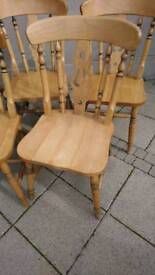 Solid Pine Farmhouse Dining Chair