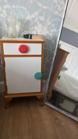 Up-cycled bedside table