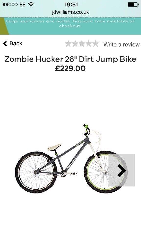 26ich. Zombie hucker dirt jump bike
