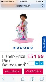 fisher price jumping zebra in pink