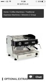 Rijo42 commercial double coffee machine. Like new