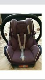 maxicosi cabriofix car seat. purple. 0+