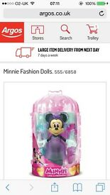 Minnie Mouse fashion doll brand new in box