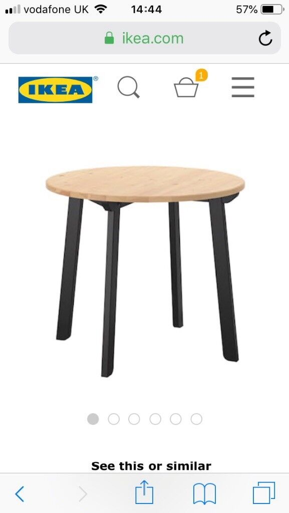 29d4fa4088 Ikea Gamlared Round Dining Table. Perfect Condition. 75cm high ...