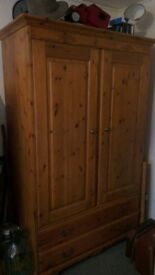 Vintage Pine Wardrobe