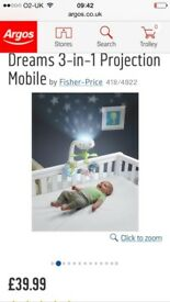 Cot mobile. Fisher price