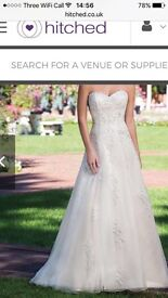 Brand new Sincerity A line Wedding gown