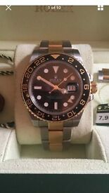 Rolex gmt2 18ct gold and steel 2008 LN model