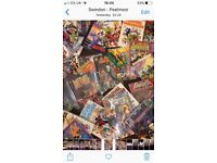 Over 50 rare marvel and dc comics and books