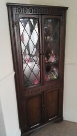 Reproduction Oak Corner Cabinet Made Locally- Excellent Condition