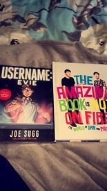 Two YouTuber books for sale