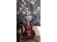 Red 6 String Electric Ibanez