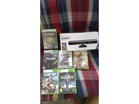 X box 360 games an kinect sensor