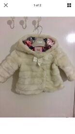 Baby Girls Ted baker coat 3-6 months
