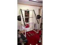Technogym Full Commercial Squat Rack with Weights, Collars and Olympic Bars