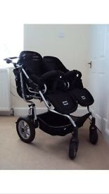 Stroll Air Spider Duo Twin Double Pushchair Pram Buggy Travel System Baby Oyster Quiny iCandy Stokke