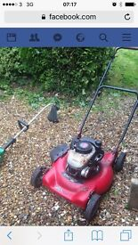 Murray petrol mower mulcher and petrol strimmer