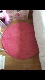 Pink Circle Rug