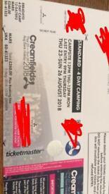 1 Creamfields standard 4 day camping ticket