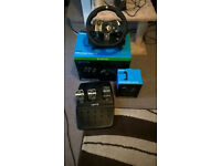 Logitech G920 Steering wheel with pedals and stick shifter