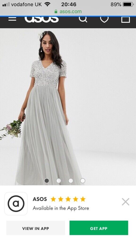 da5b7ea94bb ASOS Maya New Grey Bridesmaid Dress