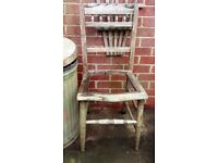 vintage chair for a planter drop washing up bowl in plant bedding plants