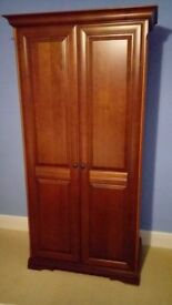 4 Piece Cherry Wood Bedroom Set Wardrobe 2 Bedside Cabinets and a 10 DrawerChest