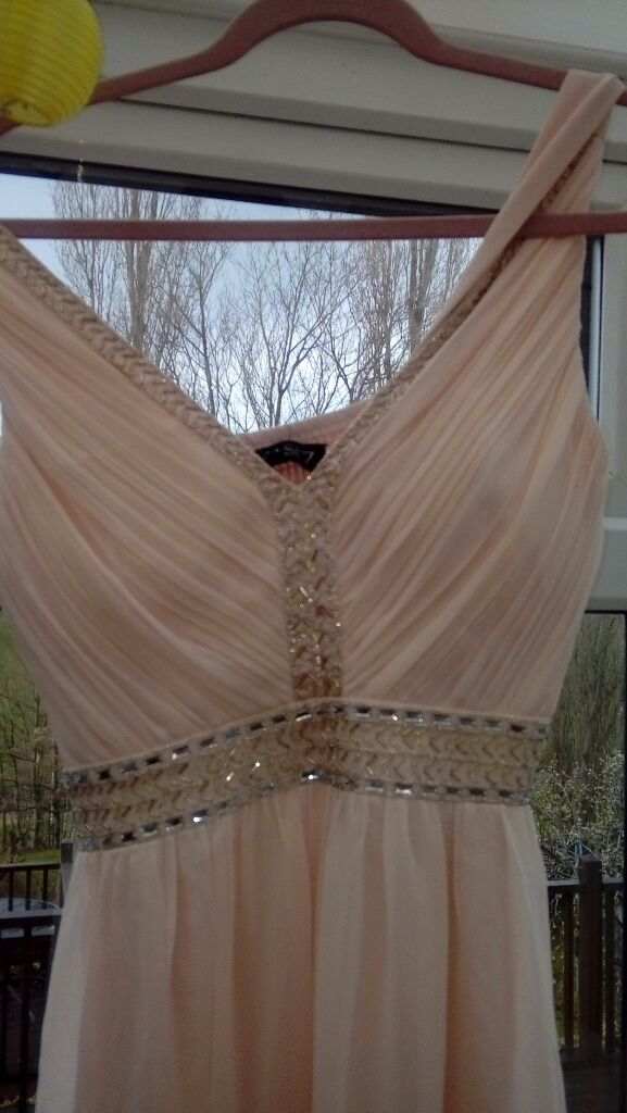 Prom/special occassion dressin Middlewich, CheshireGumtree - Brand new full length special occassion dress in pale pink. Size 10. Chase7 from debenhams