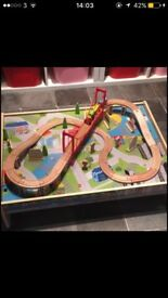 Wooden train table