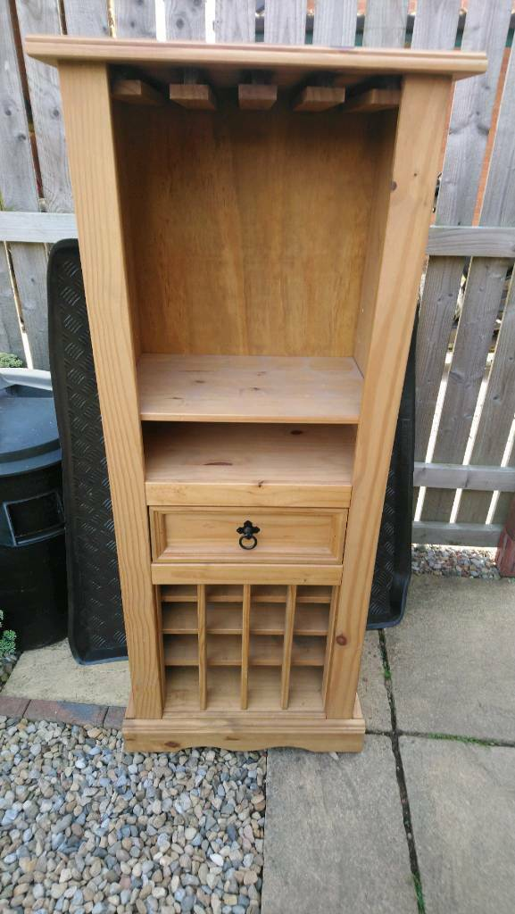 Drinks Cabinet With Built In Wine Rack