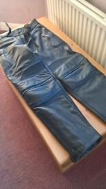 Leather motorbike jeans