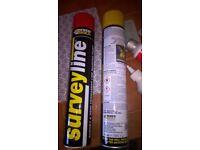 6 tins line marker paint 3 colours