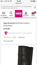 Real Michelle leather ugg boots