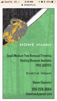 Howe Handy- Small and Medium Tree Removal, Trimming and Cutting