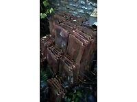 "Double Roman Pan Tiles original terracotta not concrete 12""x13"" approx 180"