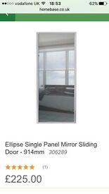 3 x sliding wardrobe doors and track