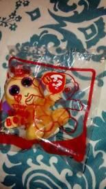 Bongo the monkey ty teenie beanie boo Macdonald's happymeal toy