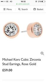 BRAND NEW sealed michael Kors Rose gold earrings MKJ4706791